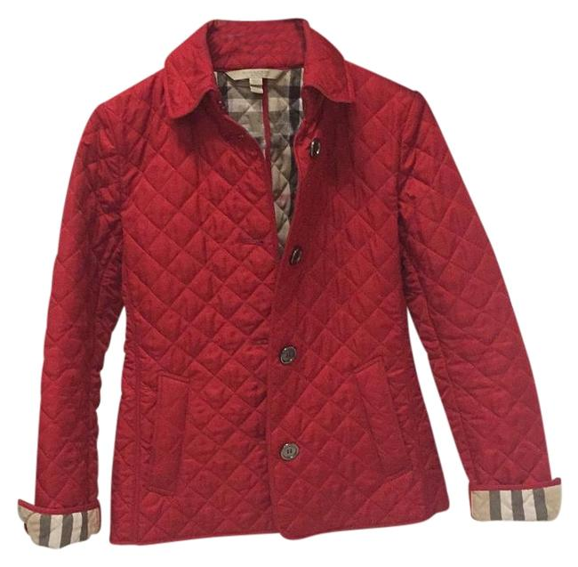 Item - Parade Red Diamond Quilted Https://Us.burberry.com/Diamond-quilted-jacket-p39921821 Jacket Size 2 (XS)