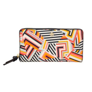 Tory Burch Kerrington Zip Continental Clutch Wallet, Cut Out T Print