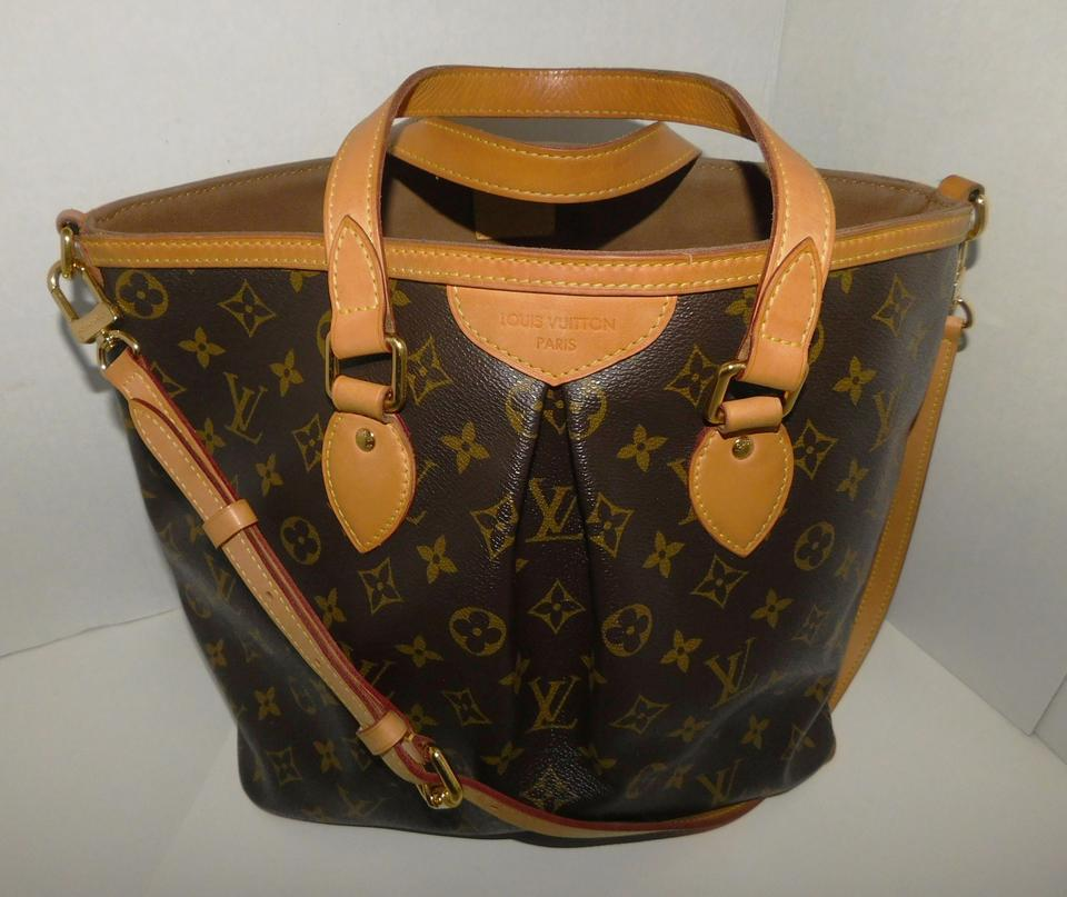 cc4cafd78f47 Louis Vuitton Palermo Pm Monogram Unique with No Zipper On Top Brown ...