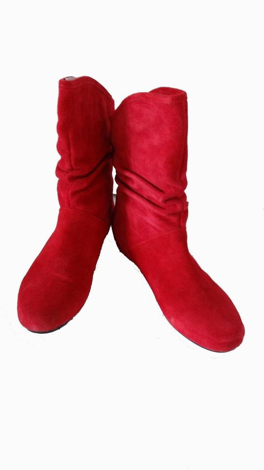 Steve Slouch Madden Red New / Slouch Steve Suede Short Boots/Booties add3c0