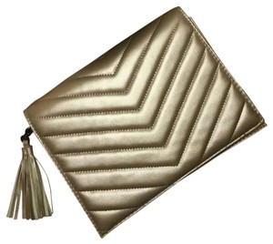 Neiman Marcus gold silver Clutch