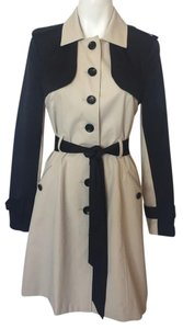 bebe Beige Button Up Trench Coat