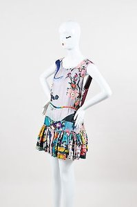 Rochas short dress Multi-Color Multicolor Silk Floral on Tradesy