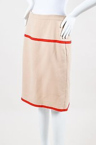 Chanel Vintage Boutique Red Skirt Beige