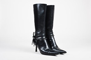 Gucci Leather Horsebit Black Boots
