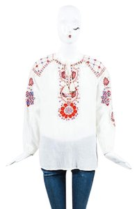Antik Batik Off White Red Tunic
