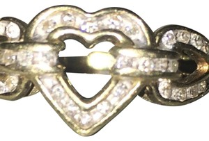 Other 14K Yellow Gold Multi Heart Ring with Genuine Diamonds