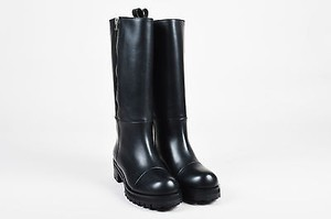 Marni Leather Zipped Black Boots