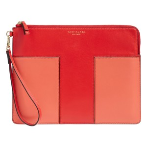 Tory Burch Block-t 11169013 Brilliant red/Spiced coral Clutch