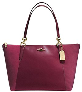 Coach Handbag Satchel 37079 37201 Tote in oxblood light gold tone