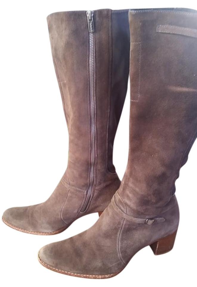 amazing quality offer discounts good service Suede Wide Calf Boots/Booties