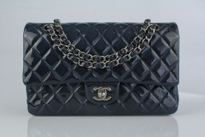 Chanel Patent Leather Medium Double Flap Shoulder Bag
