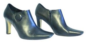 Franco Sarto Leather Zip Ankle black Boots