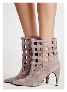 Jeffrey Campbell Leather Suede Taupe Boots