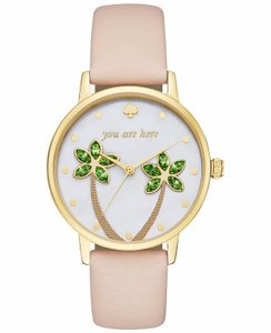 Kate Spade New York Women's white leather metro watch KSW1103