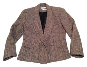 Emil Rutenberg Silk Cropped Brown/Taupe Fully Lined Brown taupe tweed Blazer