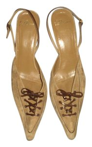 Delman TAN Pumps
