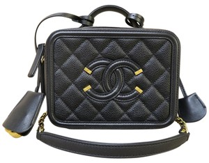 Chanel Shoulder Tote Like New Satchel in black