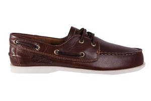 Helly Hansen Boat Deck Classic Pampas Off *Brand New* Brown with white leather lace Flats