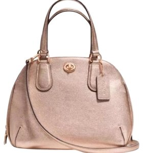 Coach Satchel in Rose Gold