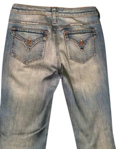 Pure Jeans Size 28 Leg. Distressed Broken In 2 Back Flap Pockets Boot Cut Jeans-Distressed