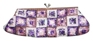 Pink MultiColor Beaded Kisslock Clutch or Crossbody Handbag