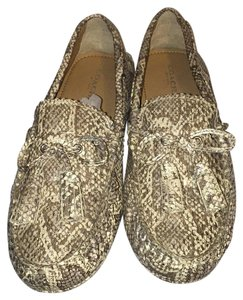Coach Silver/Ivory Flats