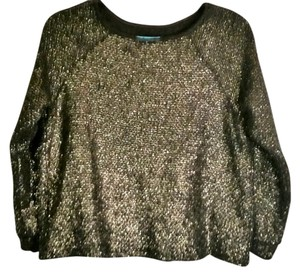 Alice + Olivia Metallic 3/4 Sleeves Sweater