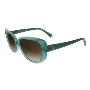 Valentino Valentino Striped Aqua Rectangular Valentino Sunglasses