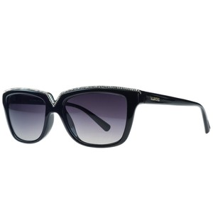 Valentino Valentino Black Rectangular Sunglasses