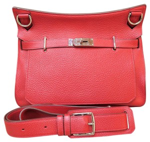Hermès Red Clemence 34 Shoulder Bag