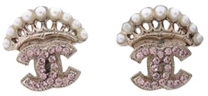 Chanel Pearl Crown CC Earrings 210163