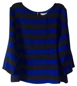 Forever 21 Top Black and royal blue stripes
