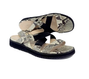Aquatalia by Marvin K. Gail Snakeskin Print Leather Sandals