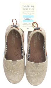 TOMS Beige with dark tan boat straps Flats
