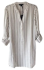 Timing Top White with black stripes