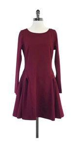 Zac Posen short dress Burgundy Flared Long Sleeve on Tradesy