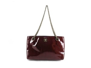 Chanel Burgundy Red Gst Neverfull Shoulder Bag