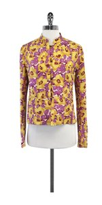 Dries van Noten Yellow Purple Floral Print Jacket