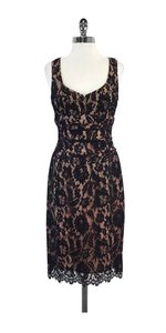 Nanette Lepore short dress Black Bronze Lace Overlay on Tradesy