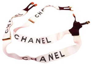 Chanel CC Logo White Suspenders 210270