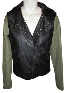Glamour Kills Faux Leather Studded Moto Motorcycle Jacket
