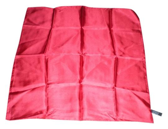 Saks Fifth Avenue Wonderful 100% Silk Red Saks Fifth Avenue Pocket Square/Scarf/Handkerchief
