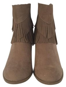 American Eagle Outfitters Suede Fringe Taupe Boots