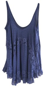 Free People short dress Dark Lavender Lace Fun Silk-like on Tradesy