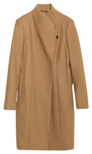 Zara Wool Tan Fall Pea Coat