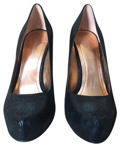 BCBGeneration Snake Glitter Holiday Black Pumps