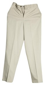 Brooks Brothers Womens Straight Pants Ivory
