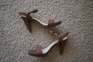 Cole Haan Soft Leather Heel Brown Sandals