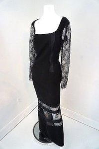 Georges Chakra Evening Designer Full Length Lace Dress